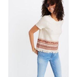 Madewell fringed sweater